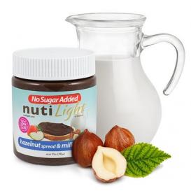 NutiLight No Sugar Added Hazelnut Spread & Milk Chocolate 312 g