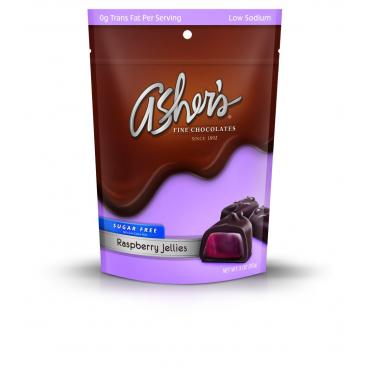Asher's Sugar Free Dark Chocolate Raspberry Jellies