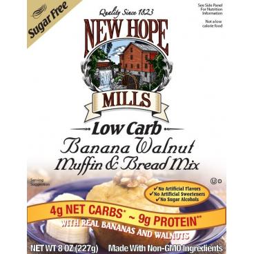 New Hope Mills Sugar Free Muffin and Bread Mix - Banana Walnut