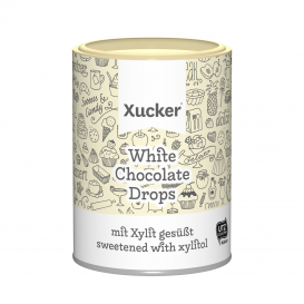 Xucker Low Carb White Chocolate Drops with Xylitol