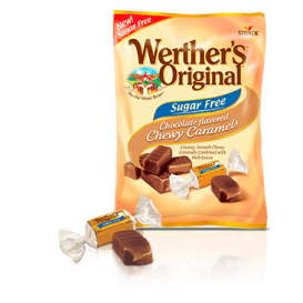 Werther's Original Sugar Free Chocolate Chewy Caramels 78 g