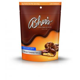 Asher's Sugar Free Milk Chocolate Pecan Caramel Patties