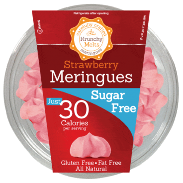 Krunchy Melts Sugar Free Meringues - Strawberry