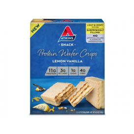 Atkins Protein Wafer Crisps Lemon Vanilla
