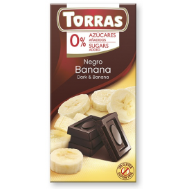 Torras No Sugar Dark Chocolate with Banana
