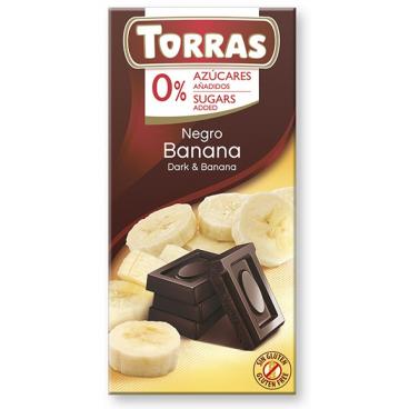 Torras No Sugar Dark Chocolate with Banana