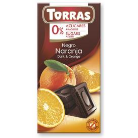 Torras No Sugar Dark Chocolate with Orange