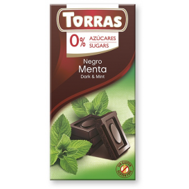 Torras No Sugar Dark Chocolate with Mint