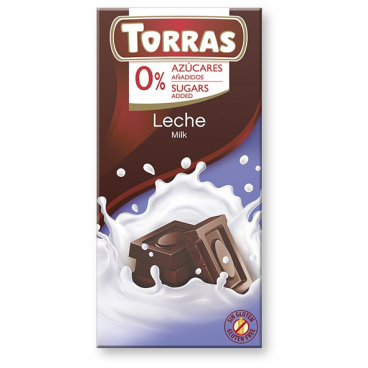 Torras No Sugar Milk Chocolate
