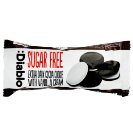 Diablo Sugar Free Extra Dark Sandwich Cookies with Vanilla Cream