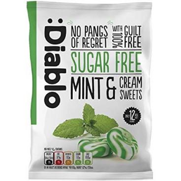 Diablo Sugar Free Mint & Cream Sweets