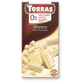 Torras No Sugar White Chocolate