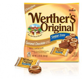 Werther's Original Sugar Free Caramel Chocolate Hard Candies