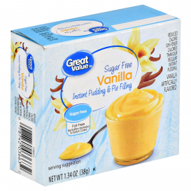 Great Value Sugar Free Instant Vanilla Pudding