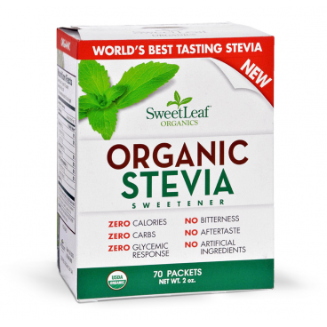SweetLeaf Organic Stevia Sweetener Packets
