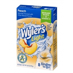 Wyler's Light Singles to Go Sugar Free Peach  Drinks