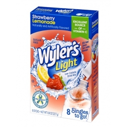 Wyler's Light Singles to Go Sugar Free Strawberry Lemonade Drinks