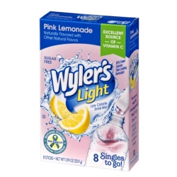 Wyler's Light Singles to Go Sugar Free Pink Lemonade Drinks