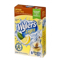 Wyler's Light Singles to Go Sugar Free Lemon Iced Tea Drinks