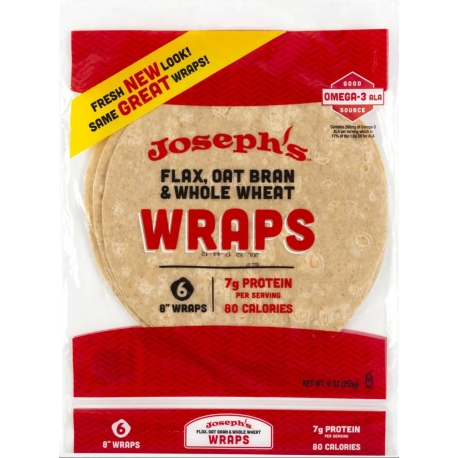 Joseph's Reduced Carb/Flax, Oat Bran & Whole Wheat Tortillas