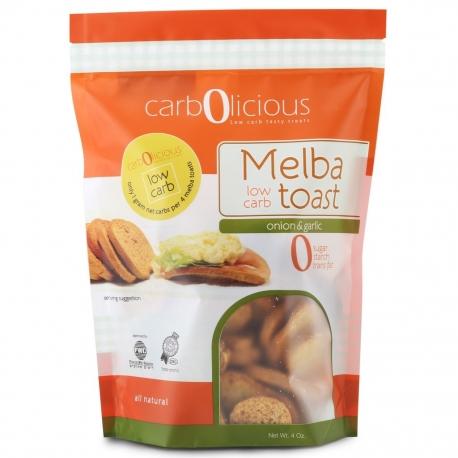 Carbolicious Low Carb Melba Toast Onion & Garlic