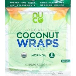 NUCO Organic Coconut Wraps Moringa