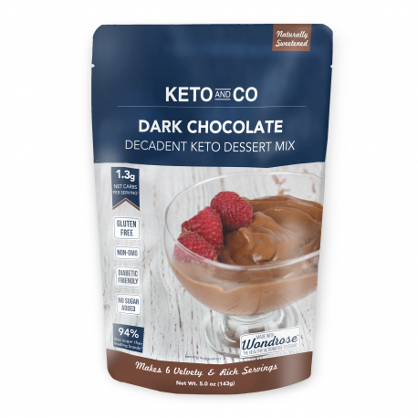 Keto and Co Decadent Keto Dark Chocolate Dessert Mix