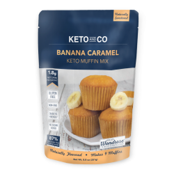 Keto and Co Keto Muffin Mix Banana Caramel