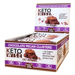 Healthsmart Keto Wise Fat Bomb Chocolate Pecan Clusters