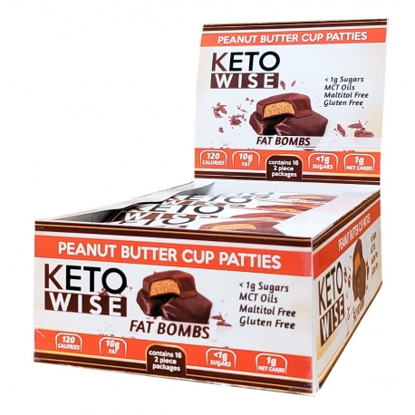 Healthsmart Keto Wise Fat Bomb Peanut Butter Cup Patties