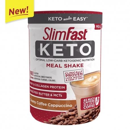 SlimFast Keto Meal Shake Mix Creamy Coffee Cappuccino