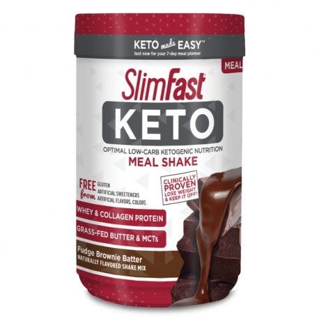 Slimfast Keto Meal Shake Mix Fudge Brownie Batter