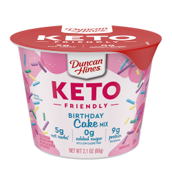 Duncan Hines Keto Friendly Cake Mix Cup Birthday Cake