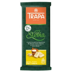 Trapa White Chocolate with Stevia