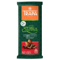 Trapa Dark Chocolate with Stevia