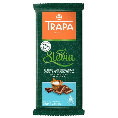 Trapa Milk Chocolate with Stevia