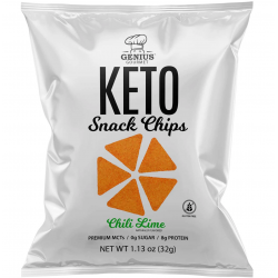 Genius Gourmet Keto Snack Chips Chili Lime