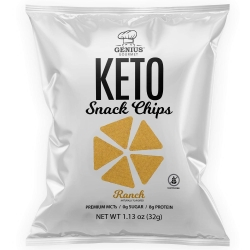 Genius Gourmet Keto Snack Chips Ranch