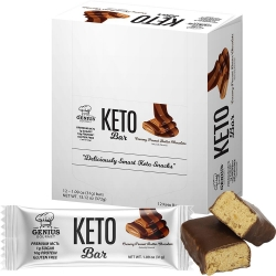 Genius Gourmet Keto Creamy Peanut Butter Chocolate Bars