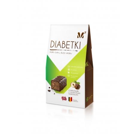 Diabetki No Sugar Added Pralines Hazelnut with Walnut