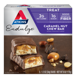 Atkins Endulge Caramel Nut Chew - 5 Bars