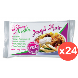 Case of 24 Shirataki Skinny Noodles - Odorless Angel Hair